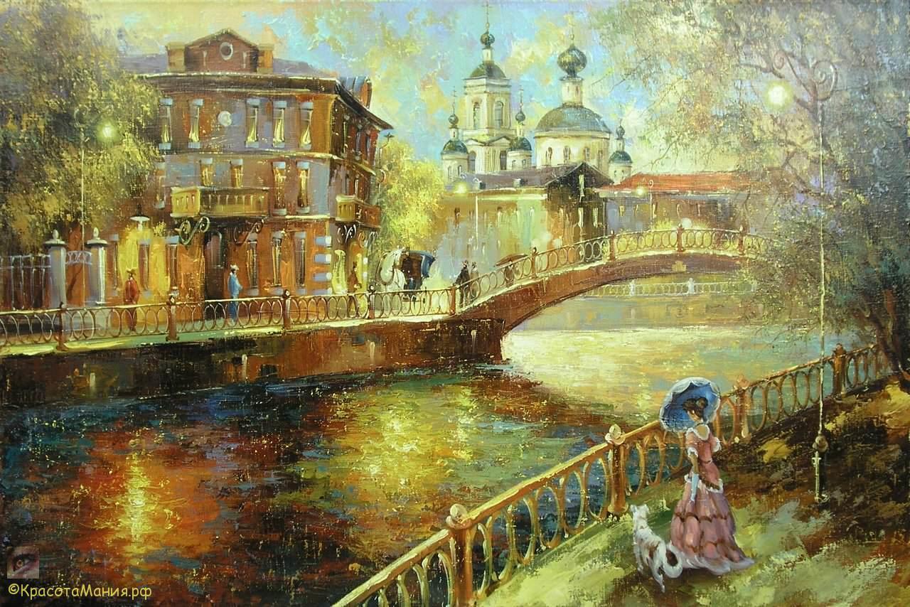 Городской пейзаж.Сергей Боев