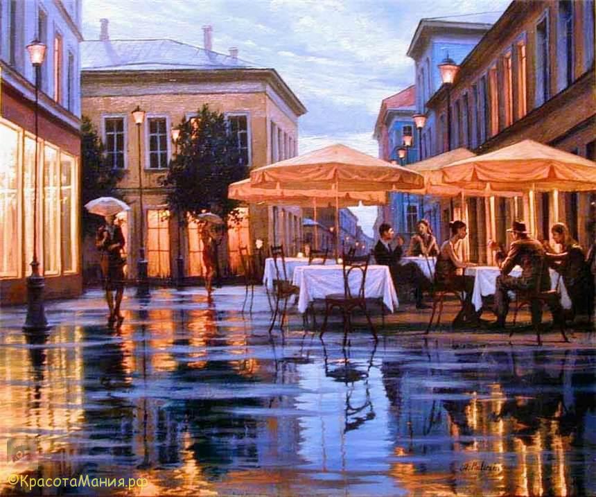 Вечернее настроение на картинах Алексея Бутырского