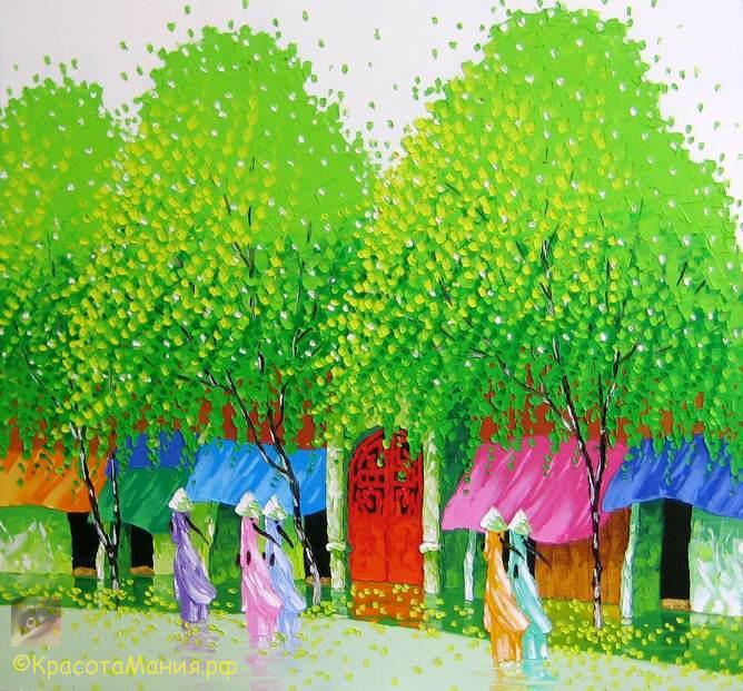 Мастихиновая живопись художницы Phan Thu Trang