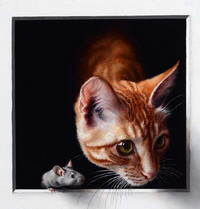 Кошки-мышки.Художница Marina Dieul