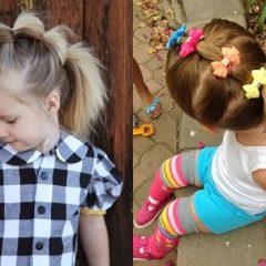 Популярные детские прически на праздник