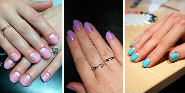 Как сделать лунки на ногтях из геля 502